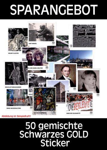 NERO Oro-Raccoglitore Sticker 50 misti