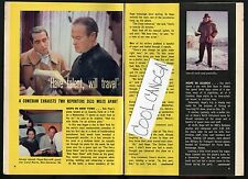 1957 Tv Article~Bob Hope~Carol Morris Miss Universe 1956~Perry Como~Joan Davis