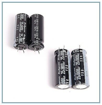 4pcs 220uf 25v Radial Electrolytic Capacitors 25v220uf Rubycon yxg JAPAN