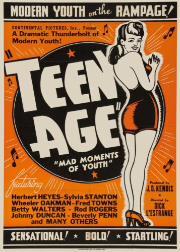 3303.Teen Age Mad Moments of Youth movie film POSTER.Home Room Art decoration