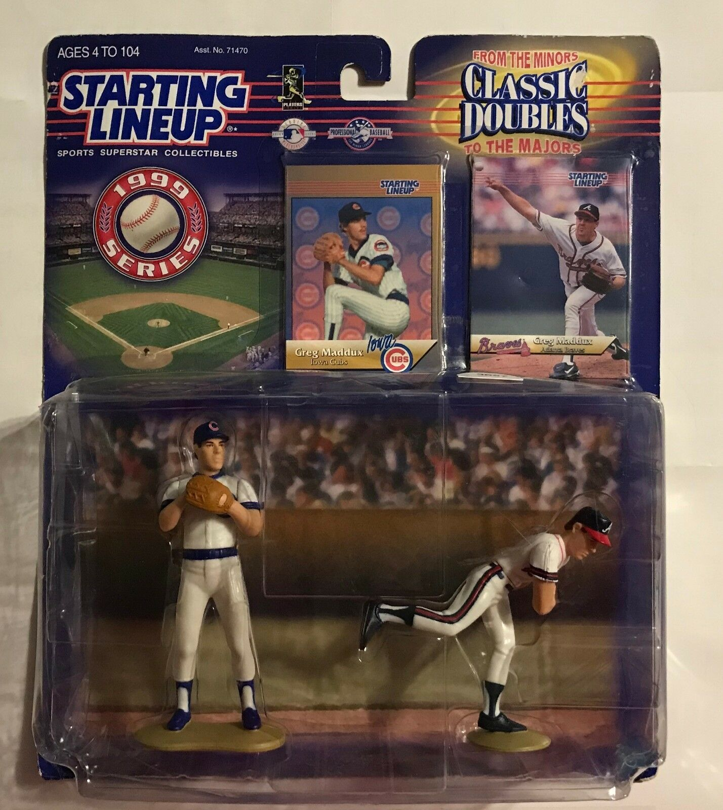 1999 STARTING LINEUP - GREG MADDUX - CLASSIC DOUBLES - ACTION FIGURE