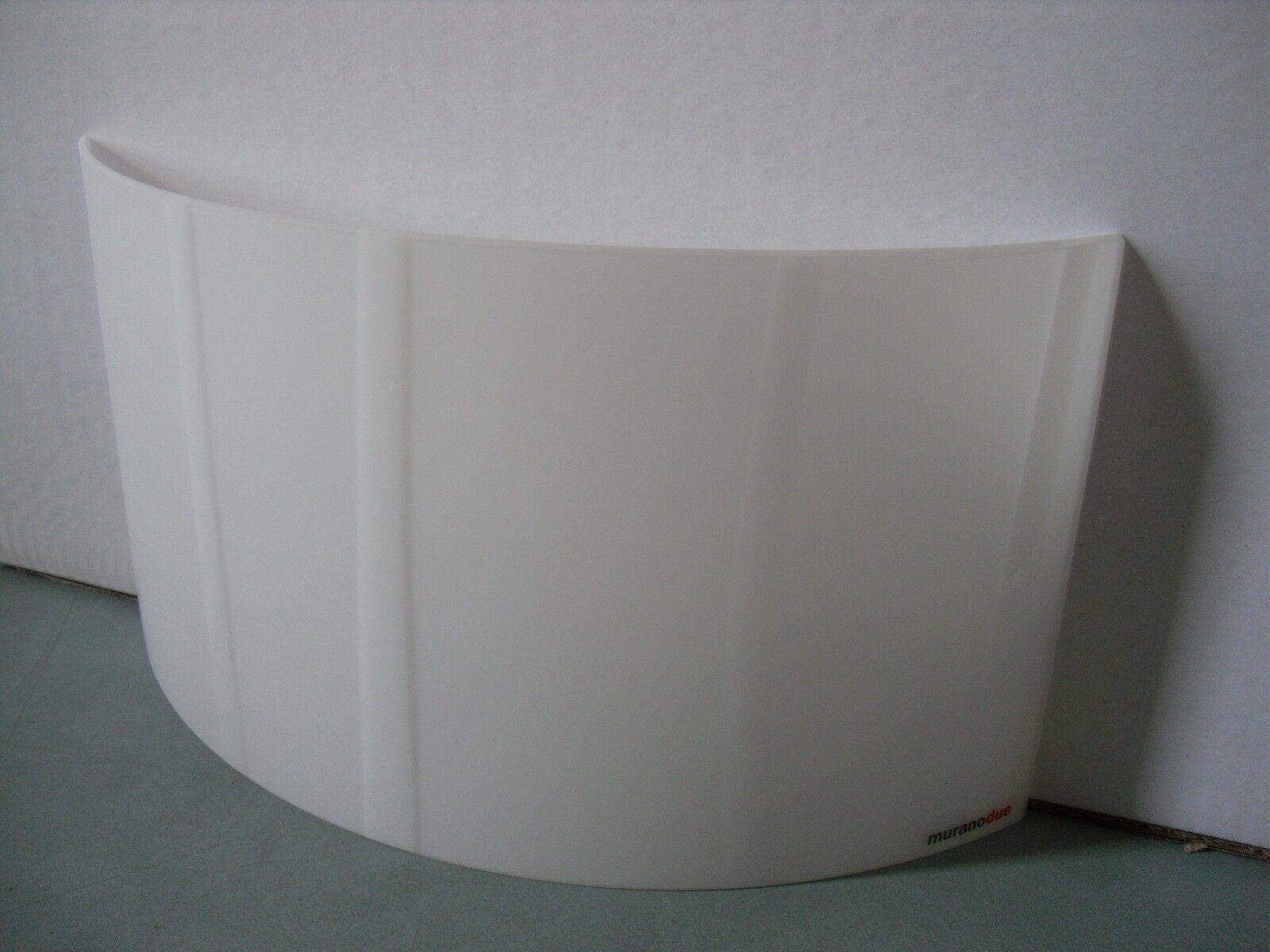 Applique talia bianca murano due in vetro vetro vetro e nichel