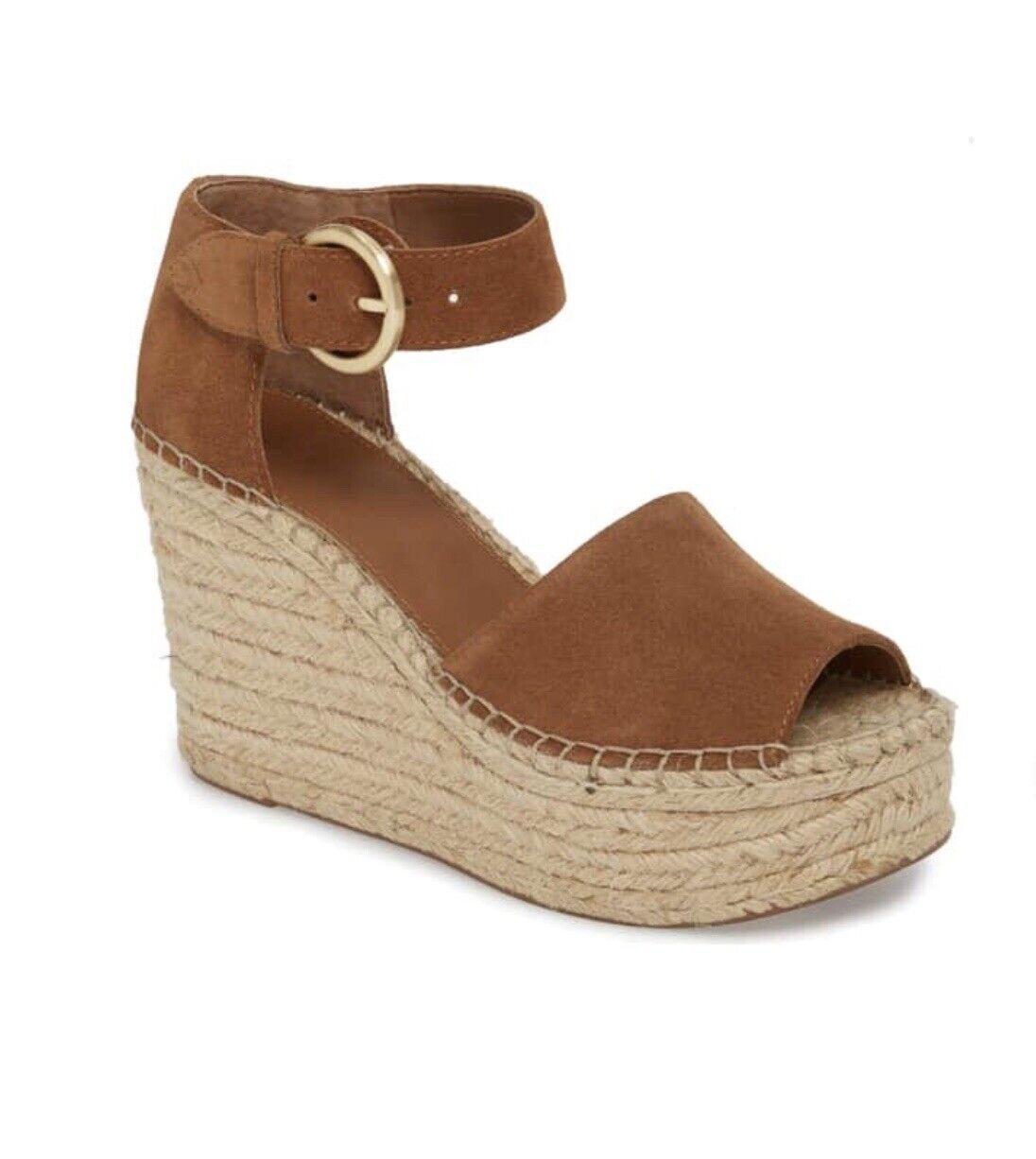 Marc Fisher LTD ALIDA Platform Wedge Cognac Sandals Dimensione 8.5