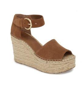 94f83a690b9 Details about Marc Fisher LTD ALIDA Platform Wedge Cognac Sandals Size 8.5