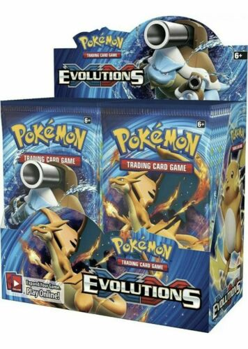 Factory Sealed From Box Pokemon Cards 2016 10 XY EVOLUTIONS Booster Packs Lot