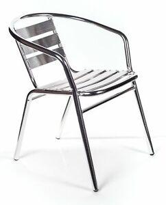 6 sedie di alluminio impilabili per bar cin struttura rinforzata