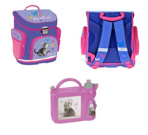 Kätze Katze Kätzchen Ergonomisch SCHULRANZEN Mädchen rucksack Schulmappe Brotdos