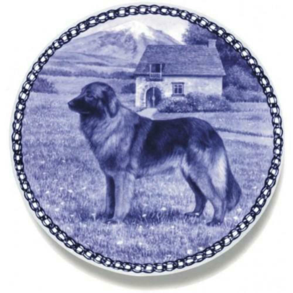 Estrela Mountain Dog - Dog Plate made in Denmark from the finest European Porcel
