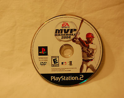 MVP Baseball 2004  (Sony PlayStation 2, 2004) Electronic Arts EA PS2 Game Disc