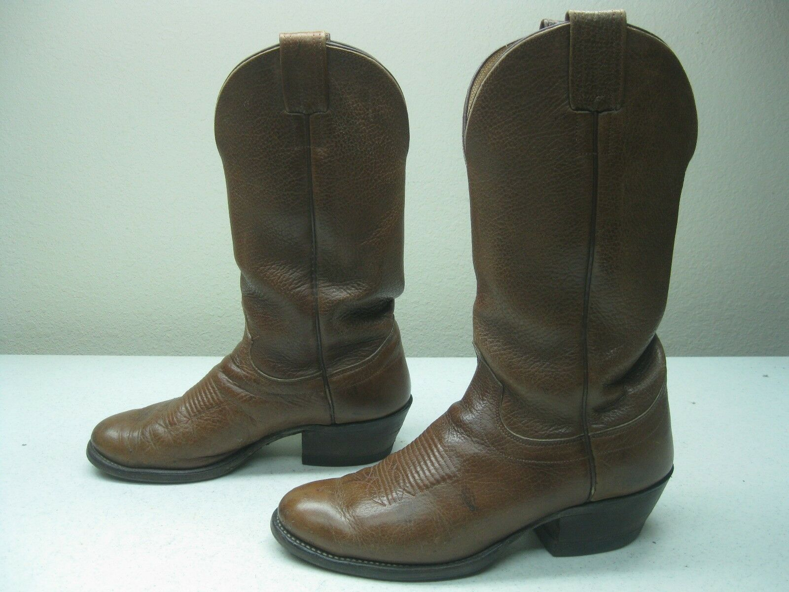 Vintage marron bottes HILL made in SAN ANTONIO 10 D Cowboy Western Rockabilly bottes