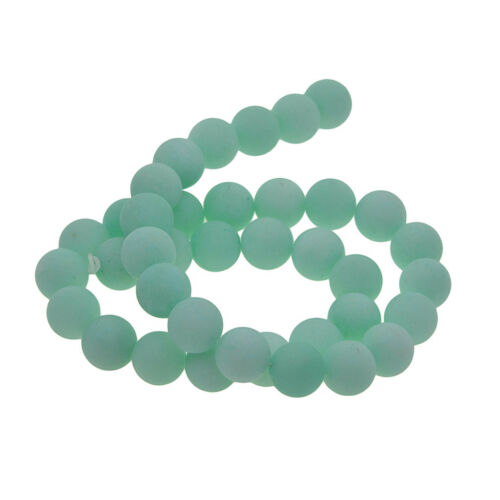Natürliche Malay Jade Matt Runde Perlen 10 MM Für DIY Armband Halskette,