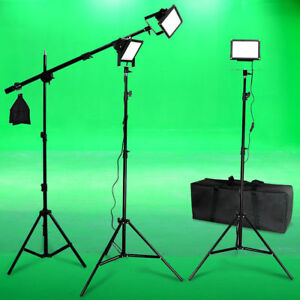LED-Photo-Video-Light-Kit-Boom-Black-Body-Photographic-Studio-Lighting