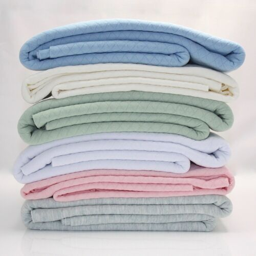 Pastel Blush Pink Quilted Soft Cotton Jersey Dressmaking Fabric Knitted Swea