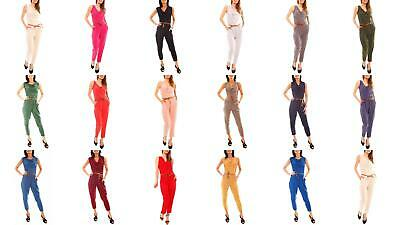 Methodical Ladies Summer Overall Jumpsuit Strandoverall Long Waterfall-clipping Sleeveless Diversified Latest Designs