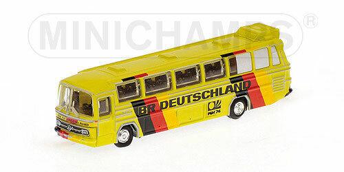 Mercedes Bus O302 Mondiali Calcio 1974 Br Deutschland 1:160 Model MINICHAMPS