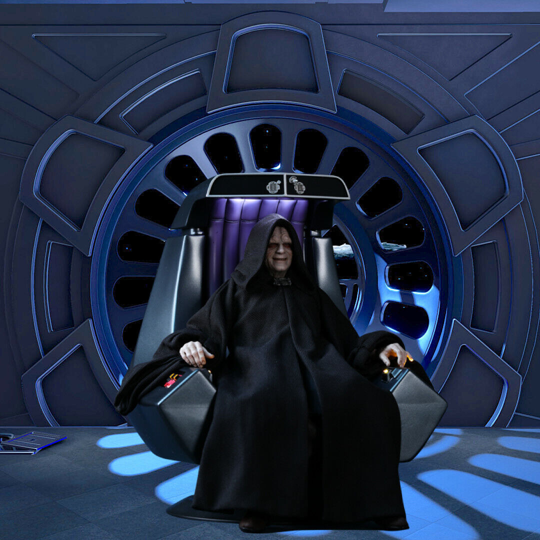 For Hot Toys Emperor Palpatine MMS 467 1//6 Emperor Throne Backdrop 15x15