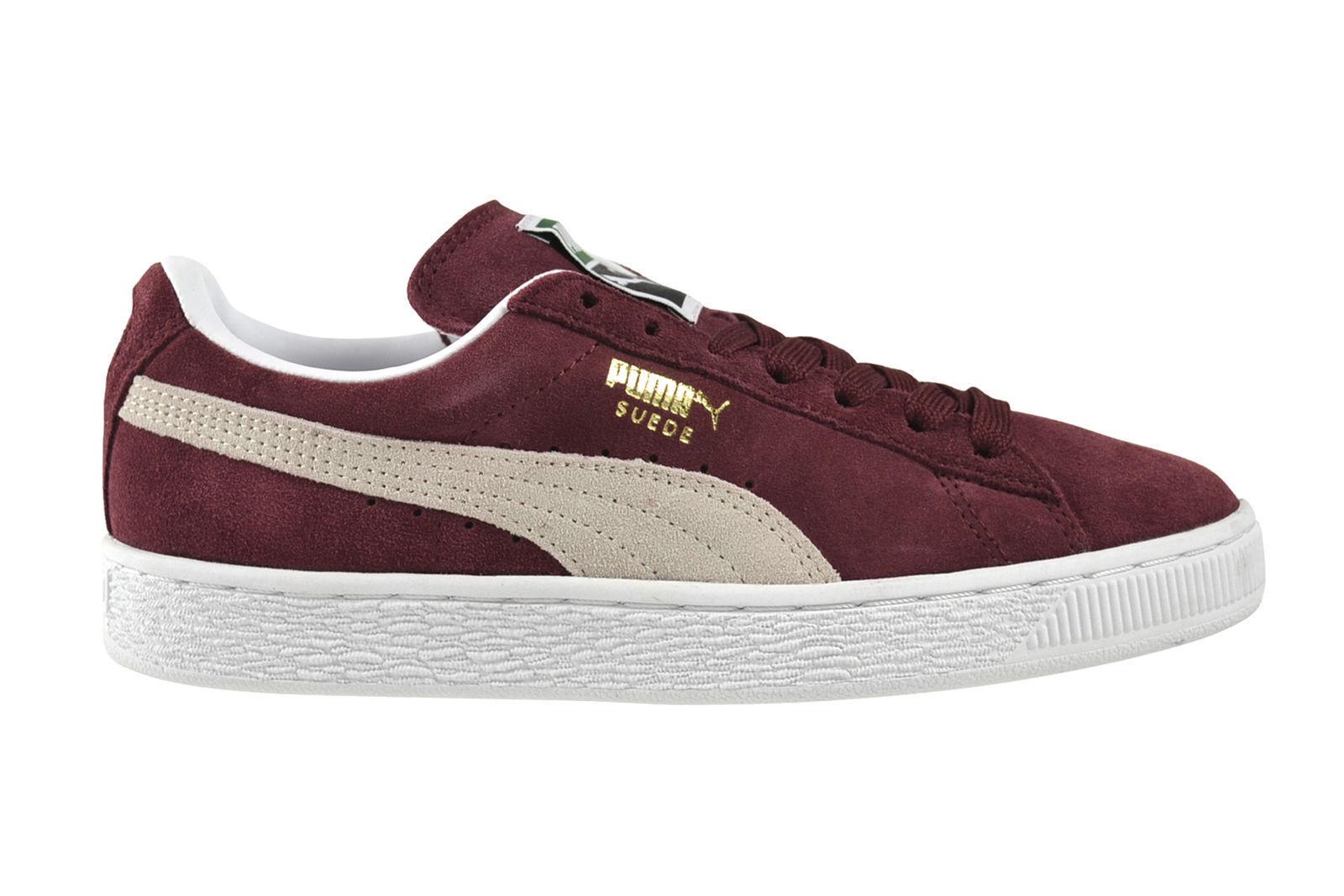 Puma zapatilla de deporte Men Suede Classic + nuevo Cabernet blanco gr 45 serraje Suede rojo