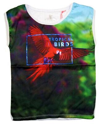 37502 Bondi Mädchen Sommer T-shirt T Shirt Neu 104-122 koralle Papagei