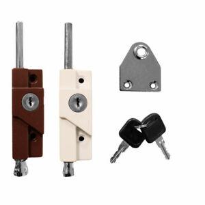 Multi-Usage-Verrouillage-Boulon-Porte-pour-Patio-Coulissant-Garage-2-Cles