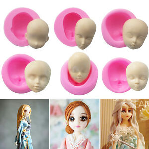 3D-Silicone-Gel-BJD-Human-Dolls-Head-Face-DIY-Cake-Mold