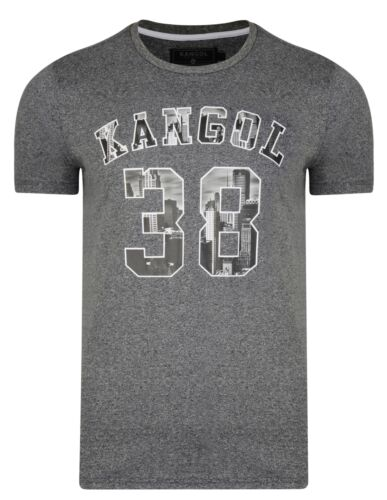 Kangol New Mens Rocka Printed Slim Fit T-Shirt Branded Logo Print Top S M L XL