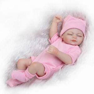 Full-Body-Reborn-Baby-Girl-Doll-Newborn-Lifelike-Silicone-Vinyl-Doll-11-inch