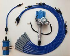 Pontiac 350 389 400 455 Blue Small Cap Hei Distributor 45k Coil Plug Wires