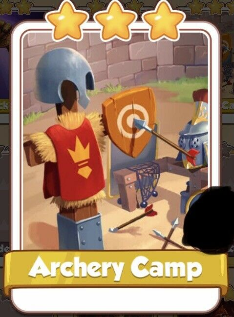 Coin Master x 10 Archery Camp Cards From Knights Set ( Fast Send )