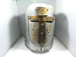 Details about 3 REPRODUCTION MEDIEVAL METAL SUIT OF ARMOR HELMETS