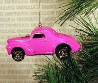 '40 '41 Willys 1940 1941 Pink/purple Christmas Ornament Xmas