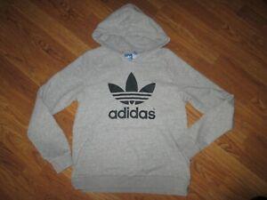 Boys-ADIDAS-hoodie-hooded-sweatshirt-sz-L-Lg-retro