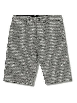NEW VOLCOM VSNT Mix hybrid swim board shorts black gray stripe men sz 31 32 36