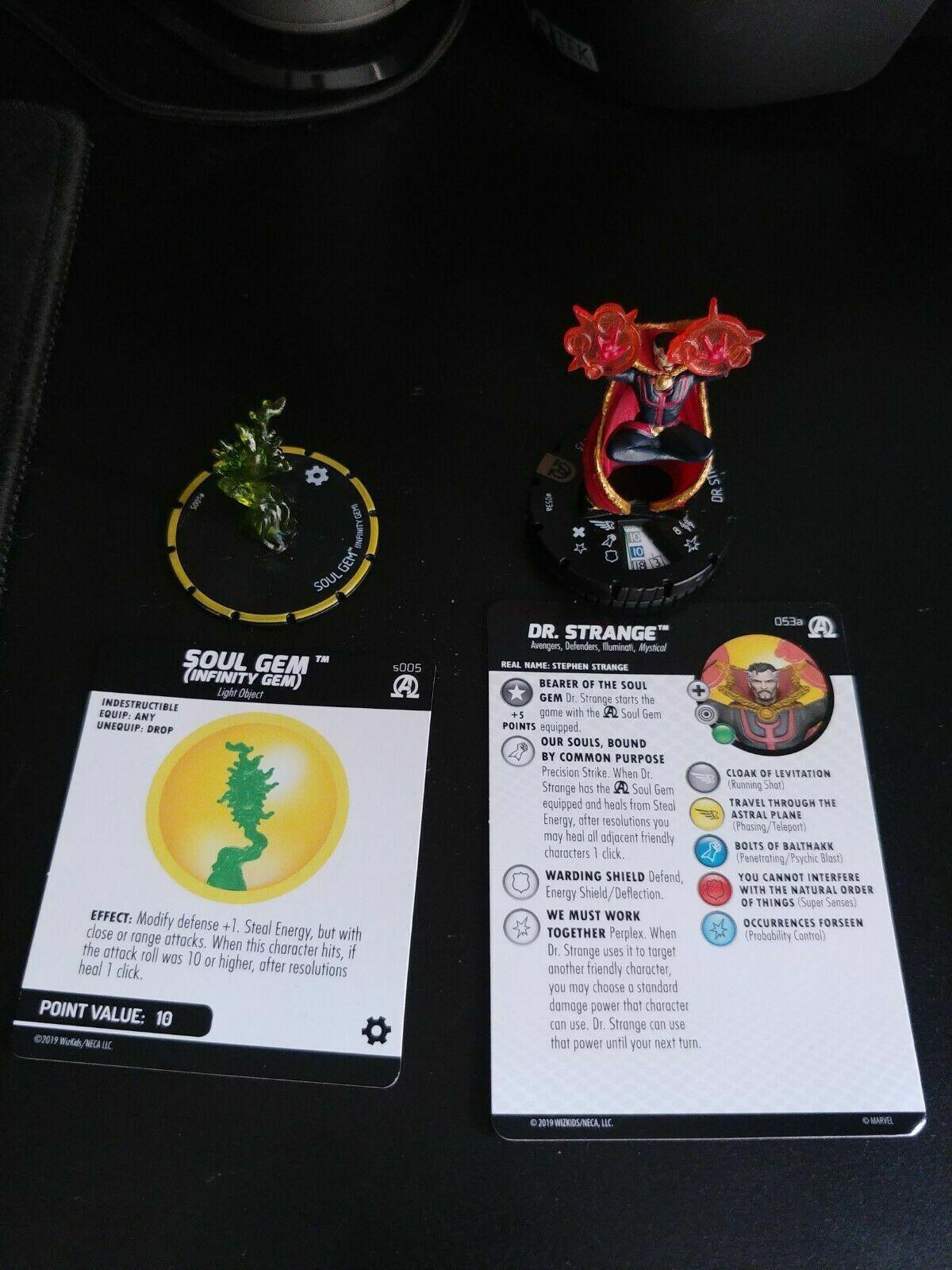 Heroclix Dr. extraño 053a Soul Gem s005 negro Panther & Illuminati Super Raro 53