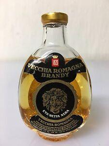 Mignon-Miniature-Vecchia-Romagna-Brandy-Etichetta-Nera-Buton-30cc-40-Vol-E