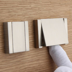 Useful-Modern-Home-Invisible-Flat-Kitchen-Cabinet-Pull-Handle-Drawer-Silver-Knob