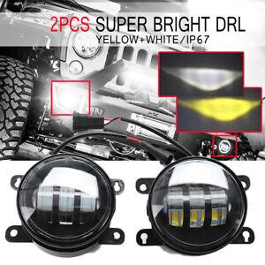 Amber-White-COB-LED-Front-Bumper-DRL-Fog-Light-For-Suzuki-SX4-Grand-Vitara-Swift
