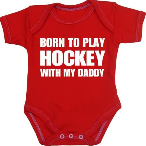 Babyprem ropa de bebé chicos chicas Hockey Body recién nacido ducha regalos NB-12m