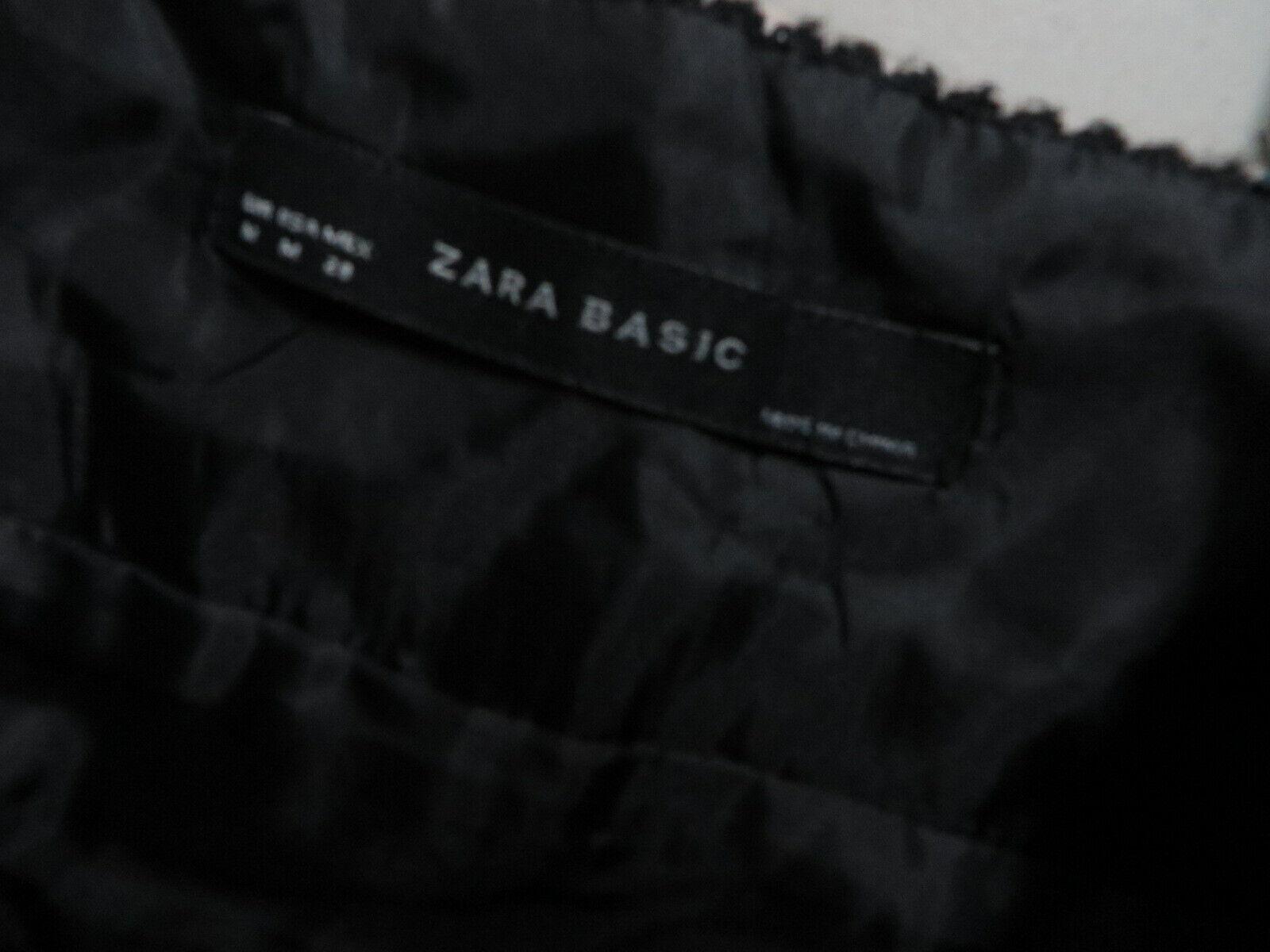 ZARA BASIC Wool blend Tweed Checkered Tartan  Bla… - image 2