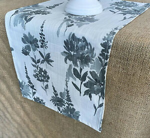 Gray Table Runner Garden Floral Home Decor Table Centerpiece Linens Dining Room Ebay