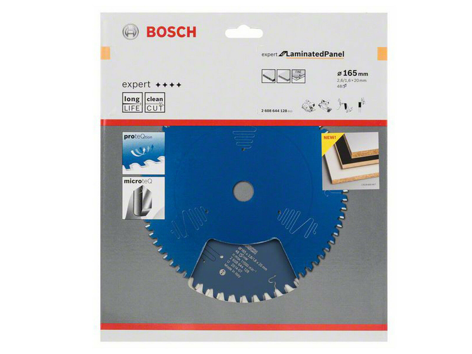Bosch  Handkreissägeblatt  Expert for Laminated Panel  2608644128 165 x 20  Z 48