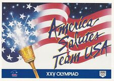 OLYMPICS - AMERICA SALUTES TEAM USA - CARTE POSTALE POSTCARD 1992 NEUF