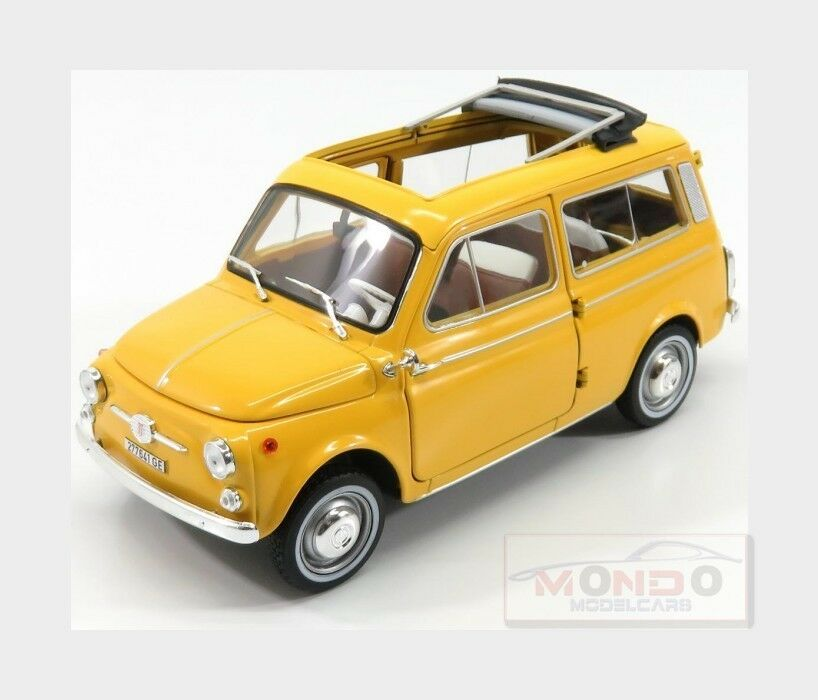 Fiat 500 Giardiniera 1962 jaune NOREV 1 18 NV187724