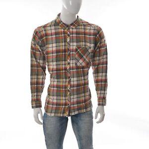 Columbia-Sportswear-Uomo-Casual-con-Bottoni-Flanella-Manica-Lunga-Maglia-1X