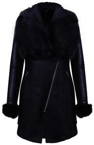 cappotto montone pecora donna nero