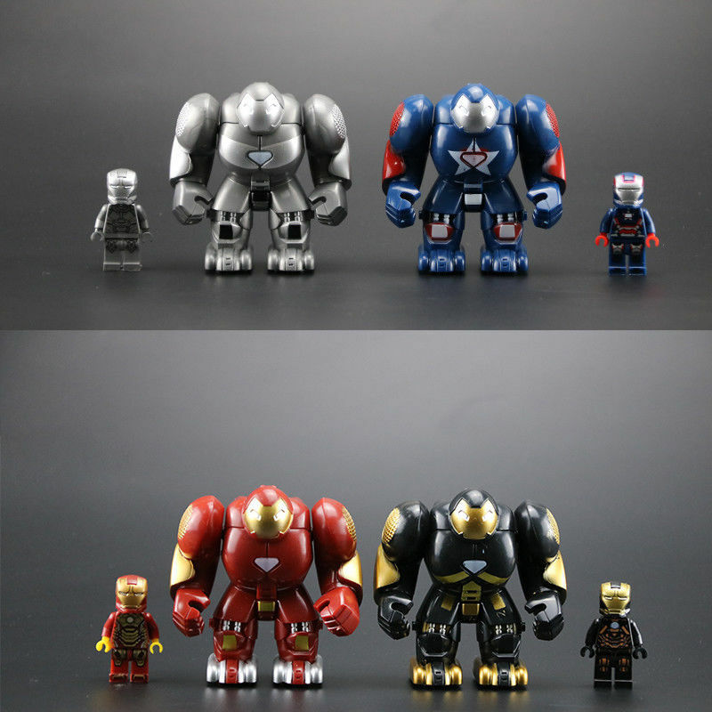 4 Style Iron Man Minifigure Marvel Avengers Super Heroes Infinity War