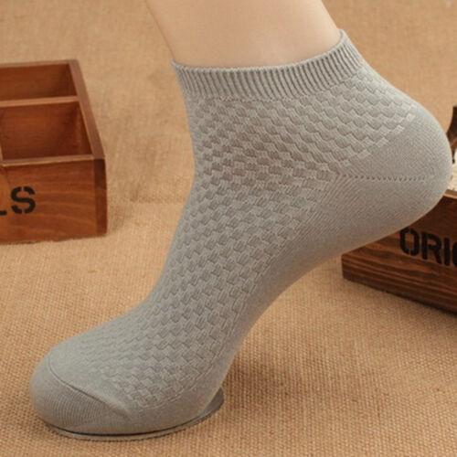 Mens Sock Ankle Quarter Sports Gym Socks Soft Business Anti-Bacterial Socks G