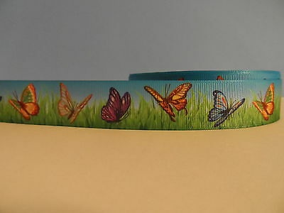 Grosgrain Ribbon, Colorful Butterflies, Beautiful Butterfly, Nature Insects, 1""