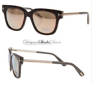 e7b548b5bde Tom Ford Sunglasses TF436 56G Tracy Shiny Gloss Brown Havana Gold ...