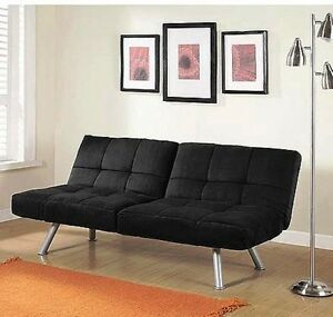 Sofa Bed Convertible Futon Sleeper Living Room Couch Lounger Microfiber Recliner