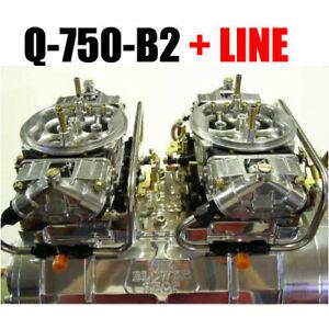 Details about QUICK FUEL Q-750-B2 750 CFM BLOWER SUPERCHARGER CARBS BLACK  W/ BLACK FUEL LINES